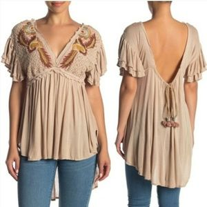 Free People Fiesta Tunic In Sand
